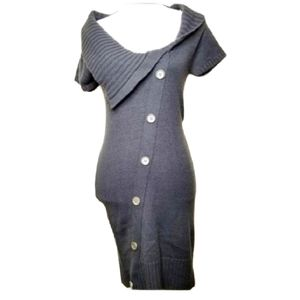 PLANET GOLD BUTTON DOWN SWEATER DRESS NWT